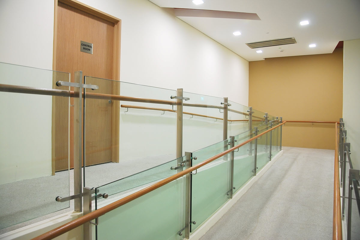 Clear and well-lit passageways for wheelchair users.