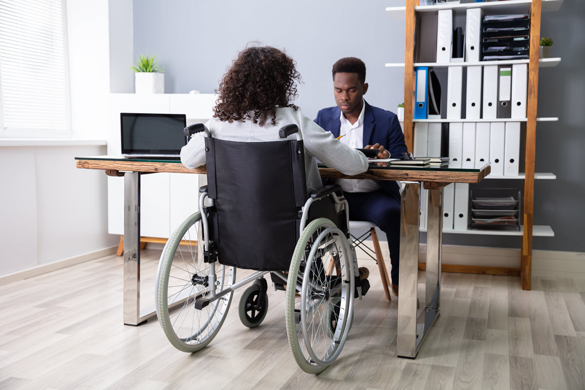 Wheelchair accessible furniture and fixtures.