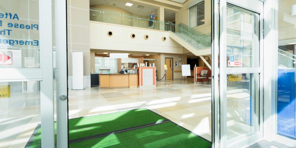 Automatic hospital doors.