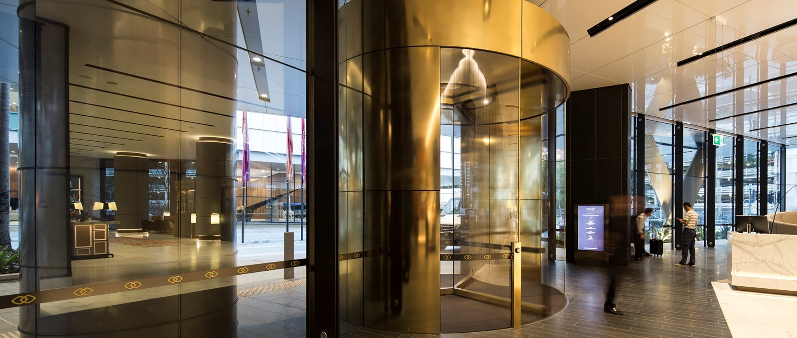 Commercial revolving door option.