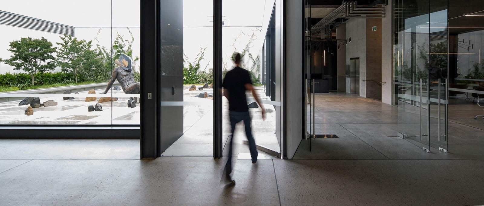 Commercial swing door option.